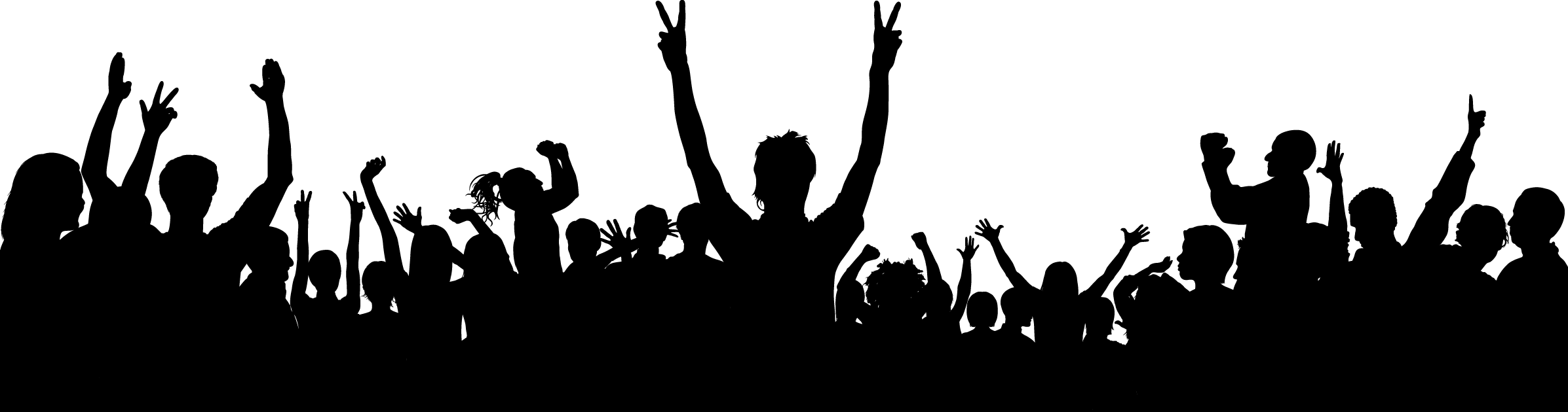 png freeuse stock Fans Clipart happy crowd