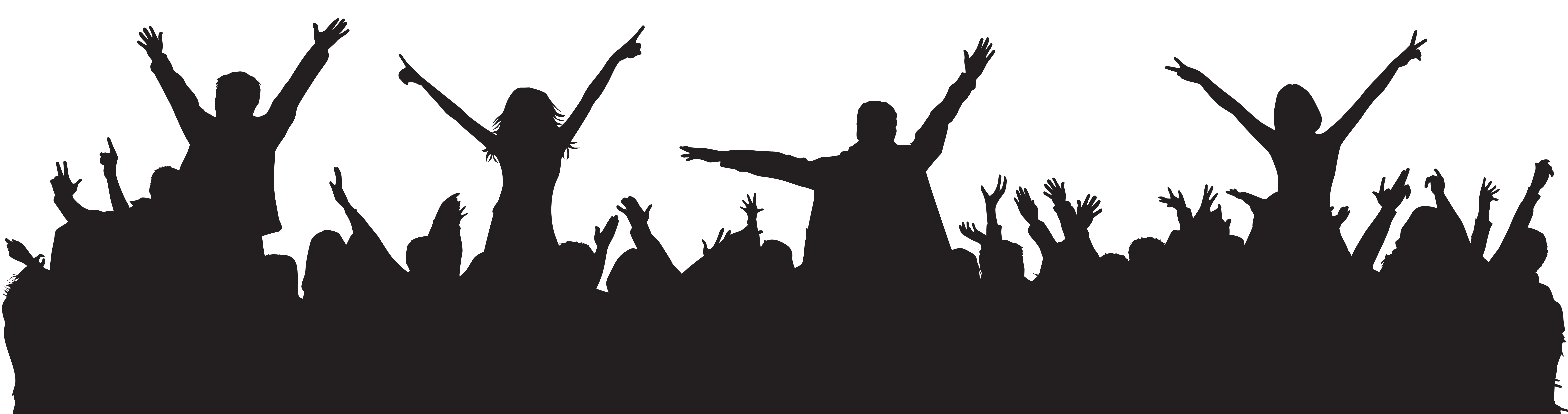 clip freeuse library Audience clipart transparent. Party people silhouette png.