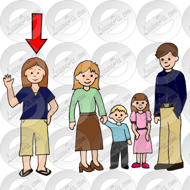 vector transparent stock Picture for classroom therapy. Aunt clipart