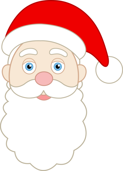 transparent library Santa beard clipart. Printable face pattern of