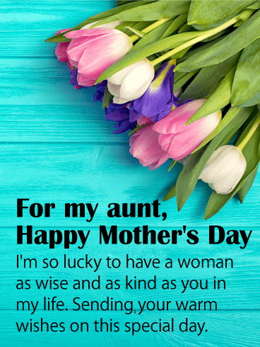 svg freeuse Gorgeous tulips adorn this. Aunt clipart mom happy.