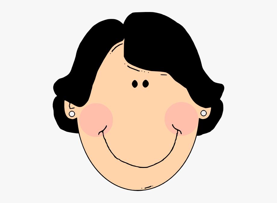 clip art stock Woman art face aunt. Latina clip cartoon