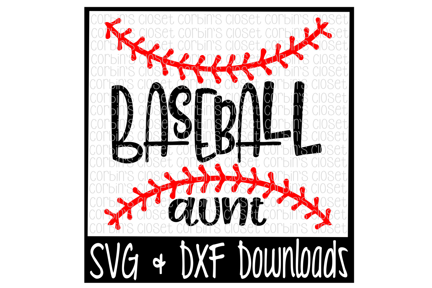 png transparent stock Baseball Aunt SVG Cut File by Corbins SVG