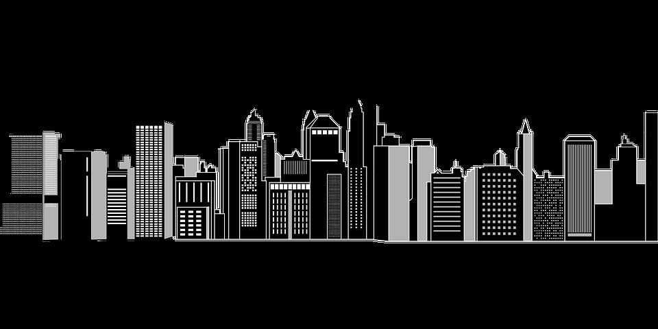 graphic royalty free download City skyline graphic desktop. Skyscraper vector.