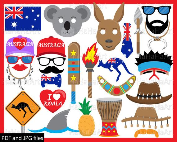 clip art freeuse Props jpg digital graphic. Australia clipart pdf