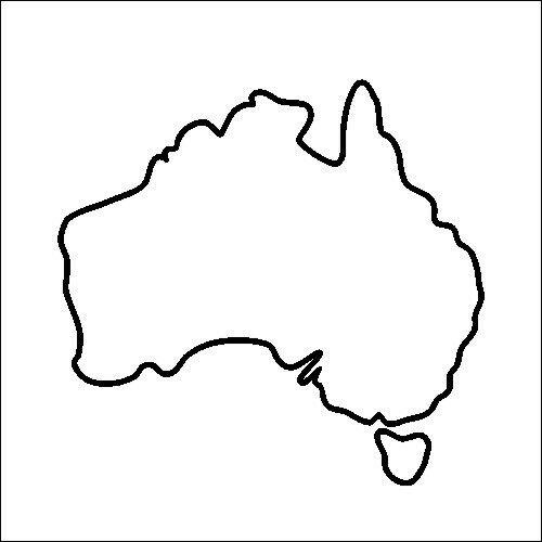 vector stock Map . Australia drawing