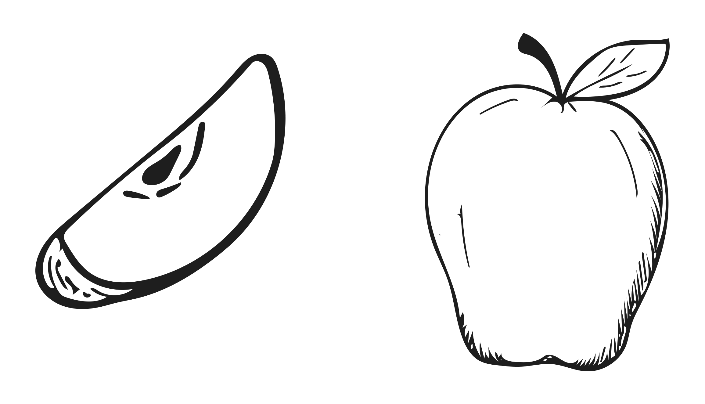 picture freeuse stock Bananas drawing hand drawn. Apple cartoon fruit transprent