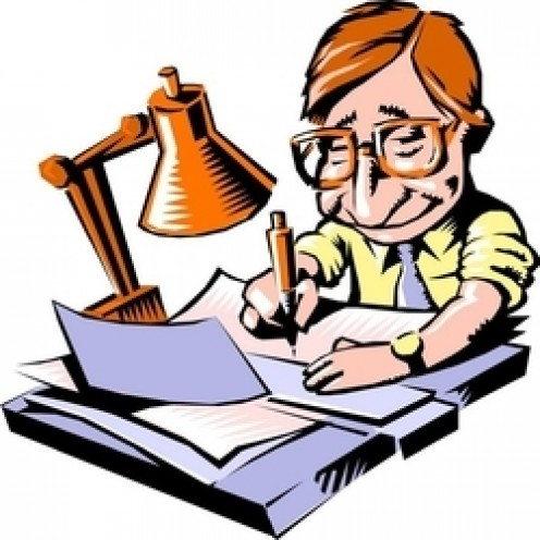 jpg free  author writing a. Writer clipart
