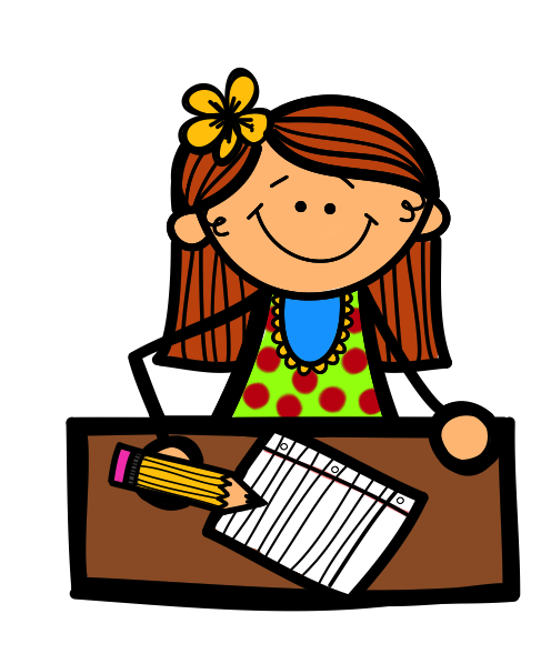 download  collection of girl. Work on writing clipart