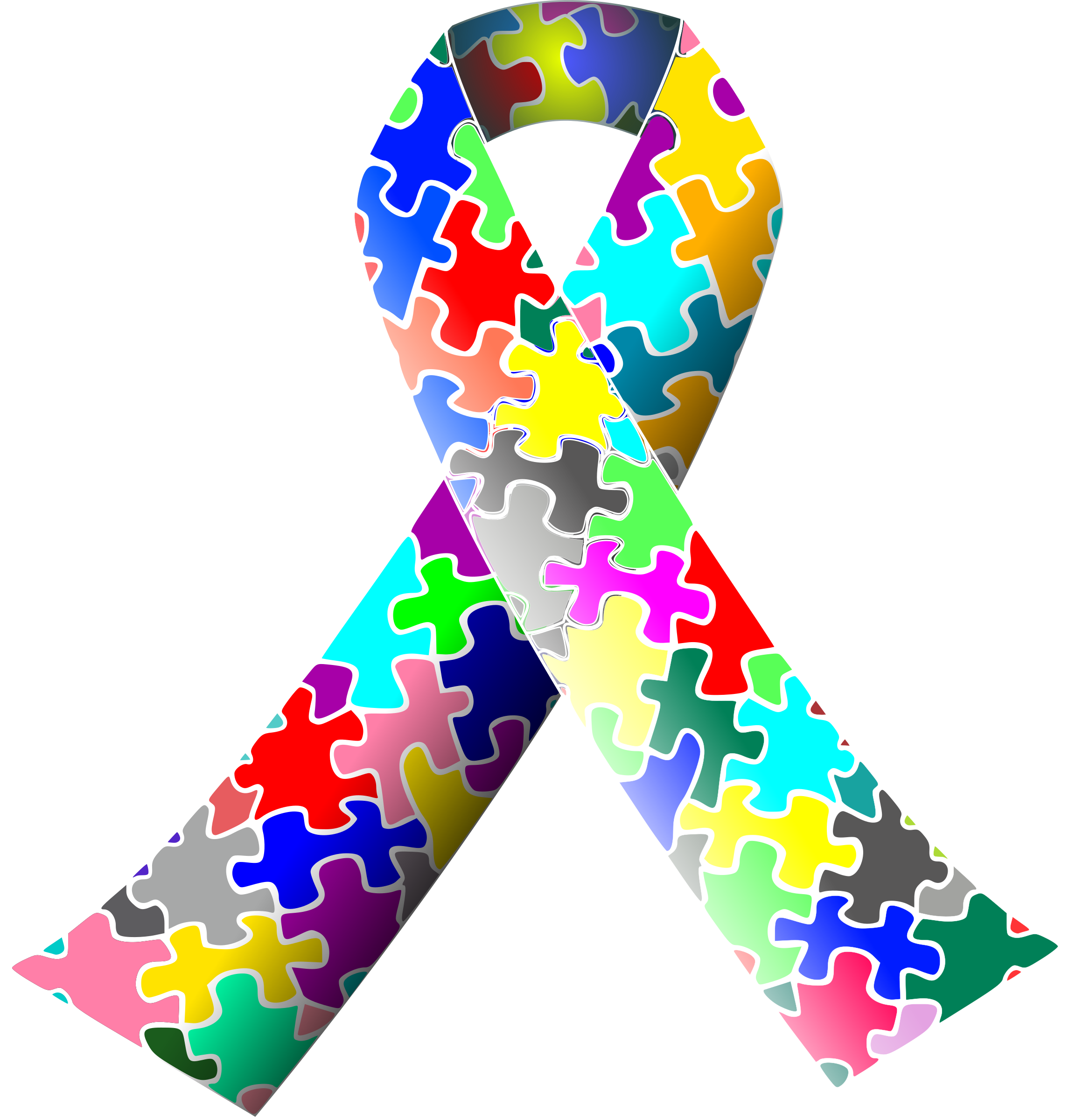 graphic library Autism clipart. Puzzle ribbon big image