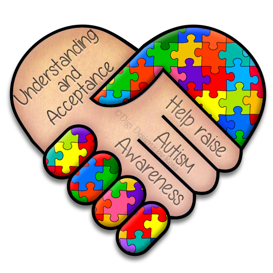 vector stock Autism clipart autism heart. Awareness by serafina rose
