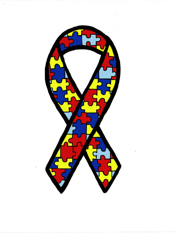 image royalty free download Ribbon . Autism clipart autism symbol