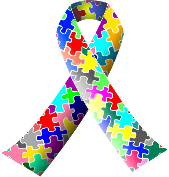 svg library Ribbon clip art at. Autism clipart autism symbol