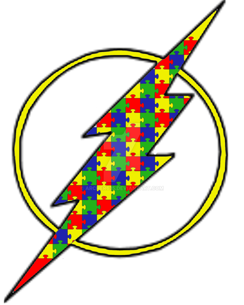 jpg free Autism clipart autism symbol. The awareness flash by