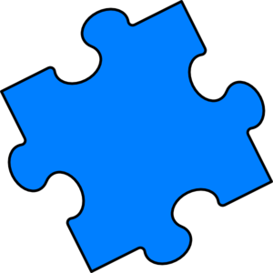 picture transparent stock Blue puzzle piece clip. Autism clipart colourful border