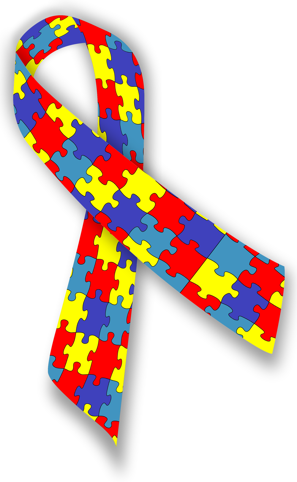 jpg download Awareness the puzzle piece. Autism clipart colourful border