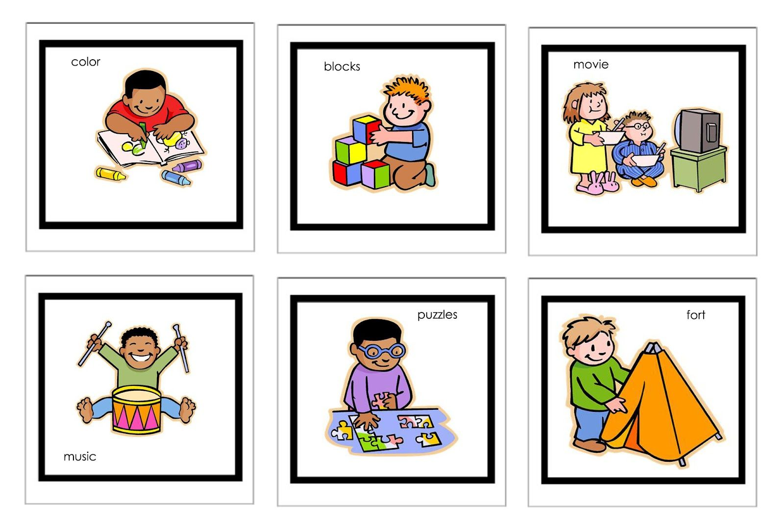 clip art library library Picture cards for nonverbal. Autism clipart communication process