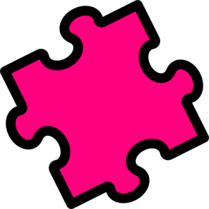 freeuse library Autism clipart pink. Puzzle piece clip art