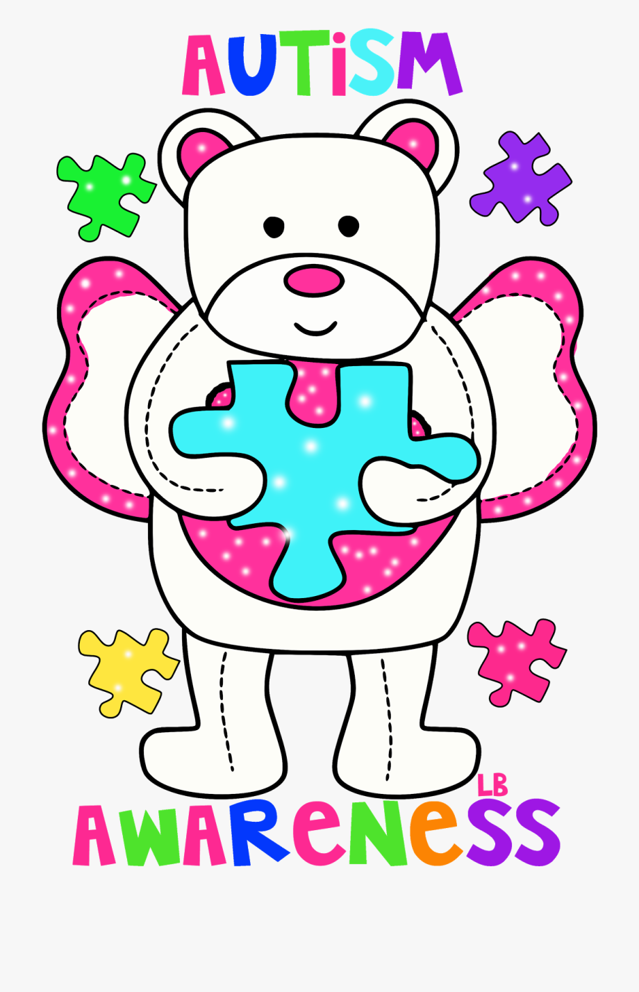 jpg transparent library Autism clipart pink. Medical problems awareness day