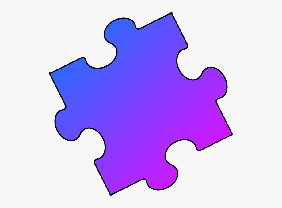clip royalty free download Blue puzzle piece small. Autism clipart pink