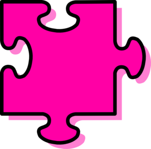 clip free library Puzzle piece hubpicture pin. Autism clipart pink