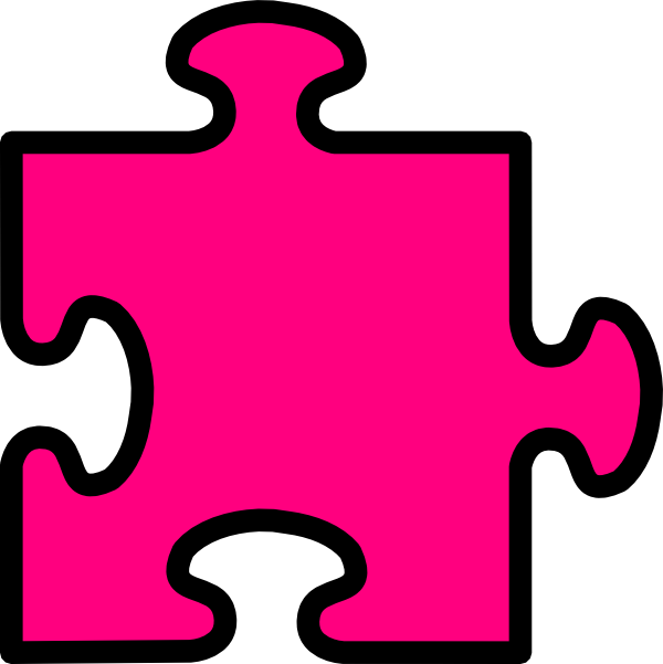 clip black and white Autism clipart pink. Jigsaw clip art at