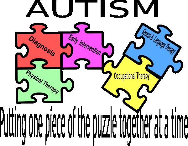 clip Puzzle logo clip art. Autism clipart pink