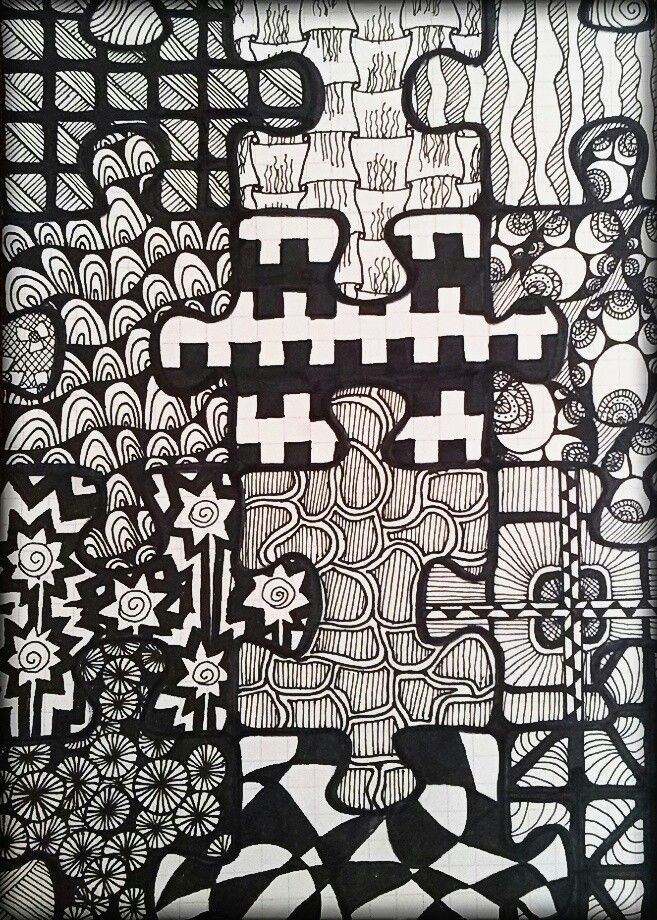clip library drawing puzzle pattern #134831487