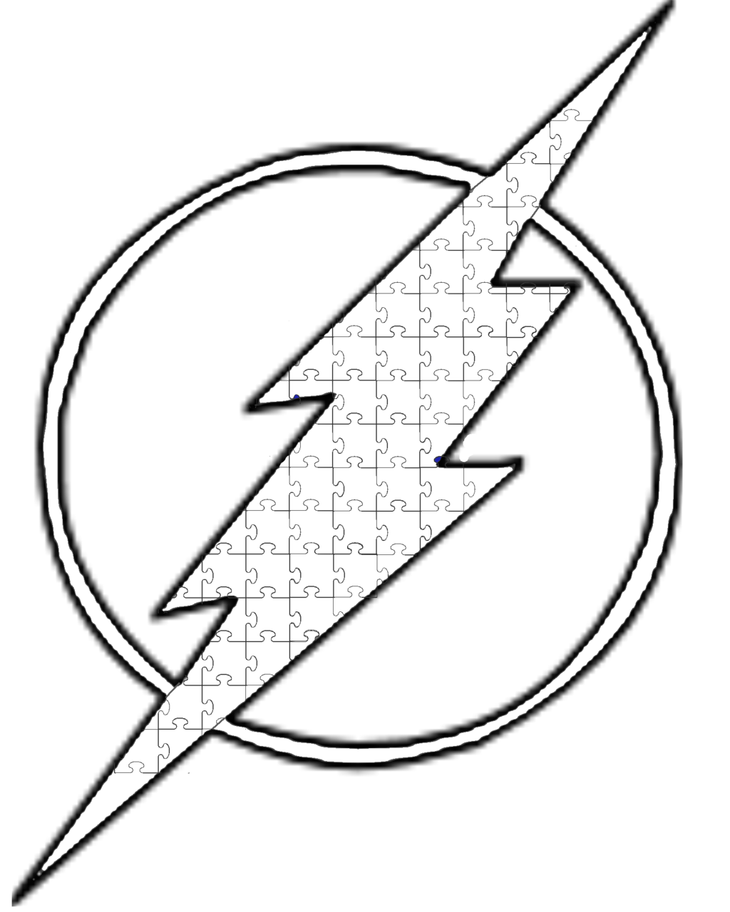 graphic library Autism Flash symbol Lineart by archer