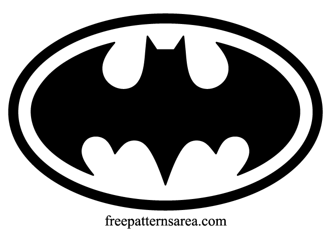 royalty free stock Batman Logo Symbol and Silhouette Stencil Vector