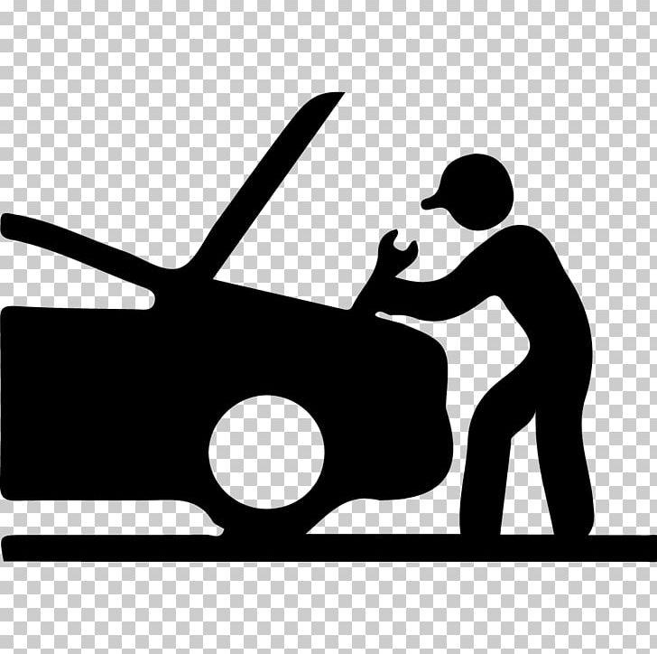 graphic Car automobile repair shop. Auto mechanic clipart black and white.