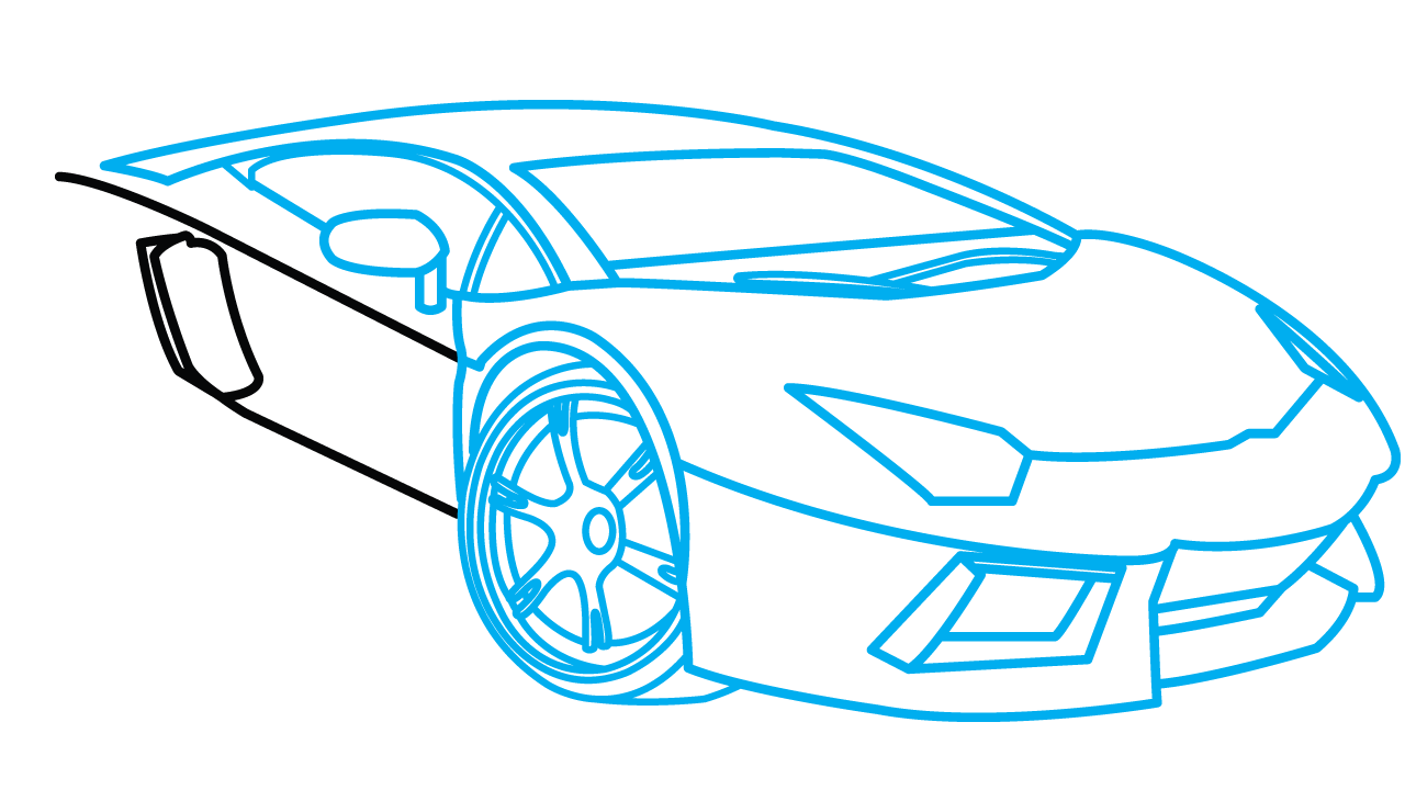svg black and white download Collection of free Drawing easy car