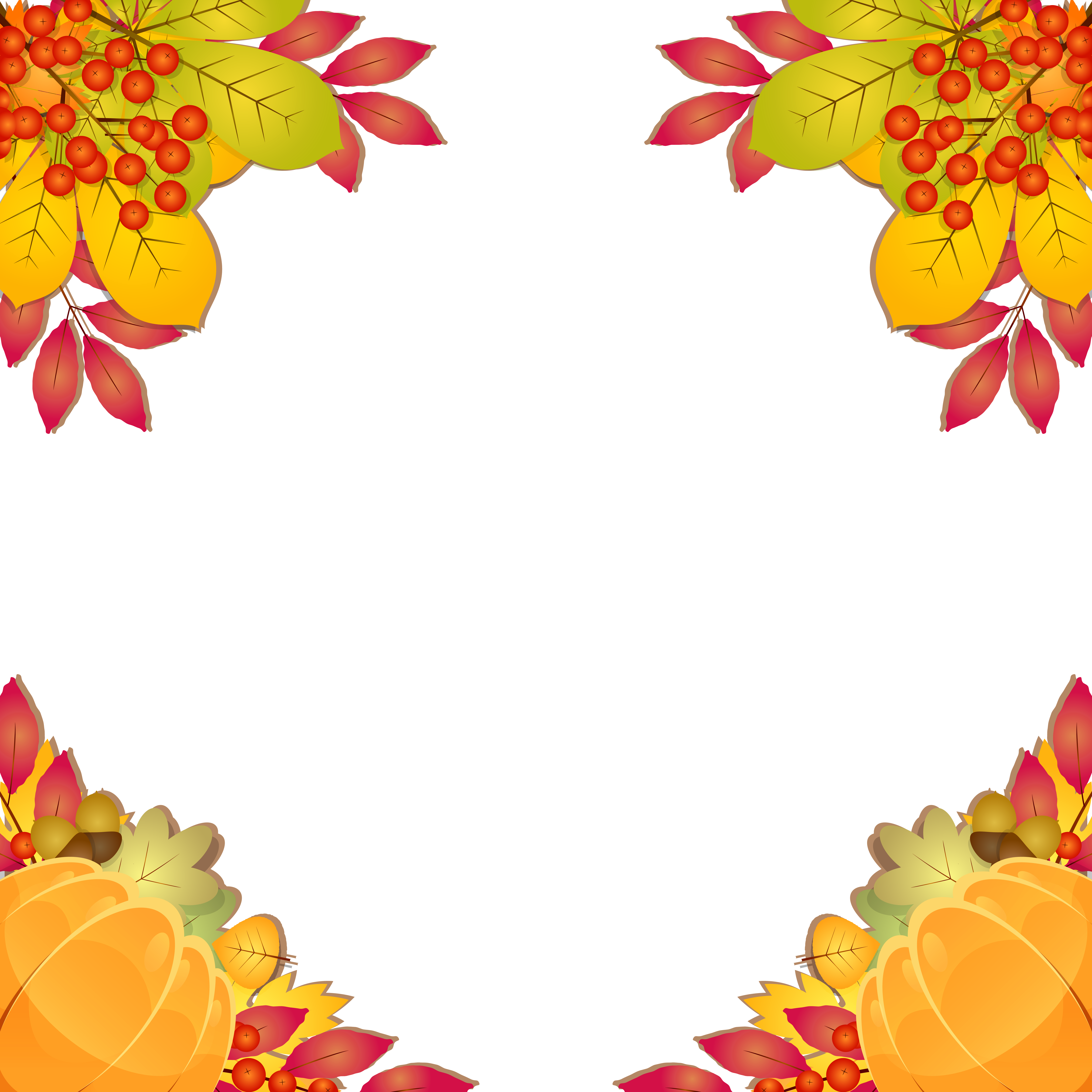 picture transparent library Frame border png image. Fall borders clipart.