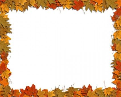 vector black and white Free border templates leaves. Fall borders clipart.
