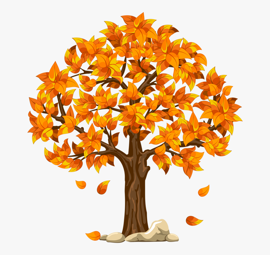 image download Fall scene tree transparent. Autumn clipart.