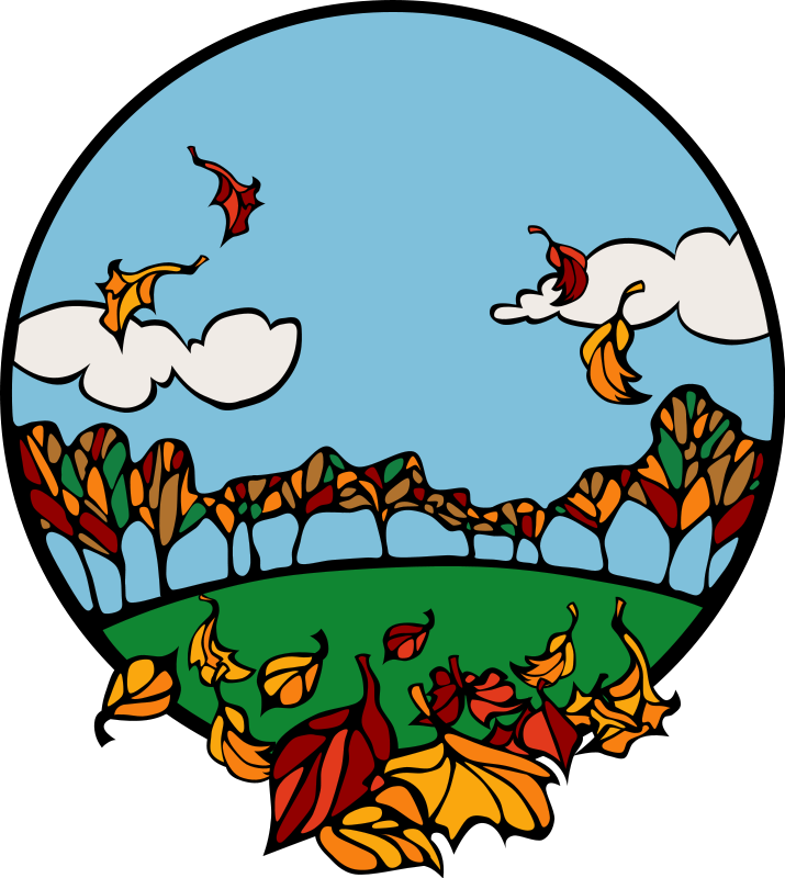graphic Fall and autumn seasonal. Picture clipart
