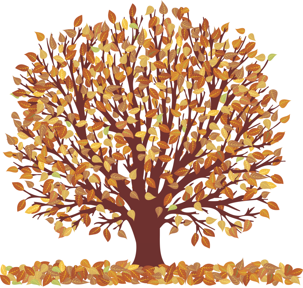 graphic black and white library Trees Fall Clipart