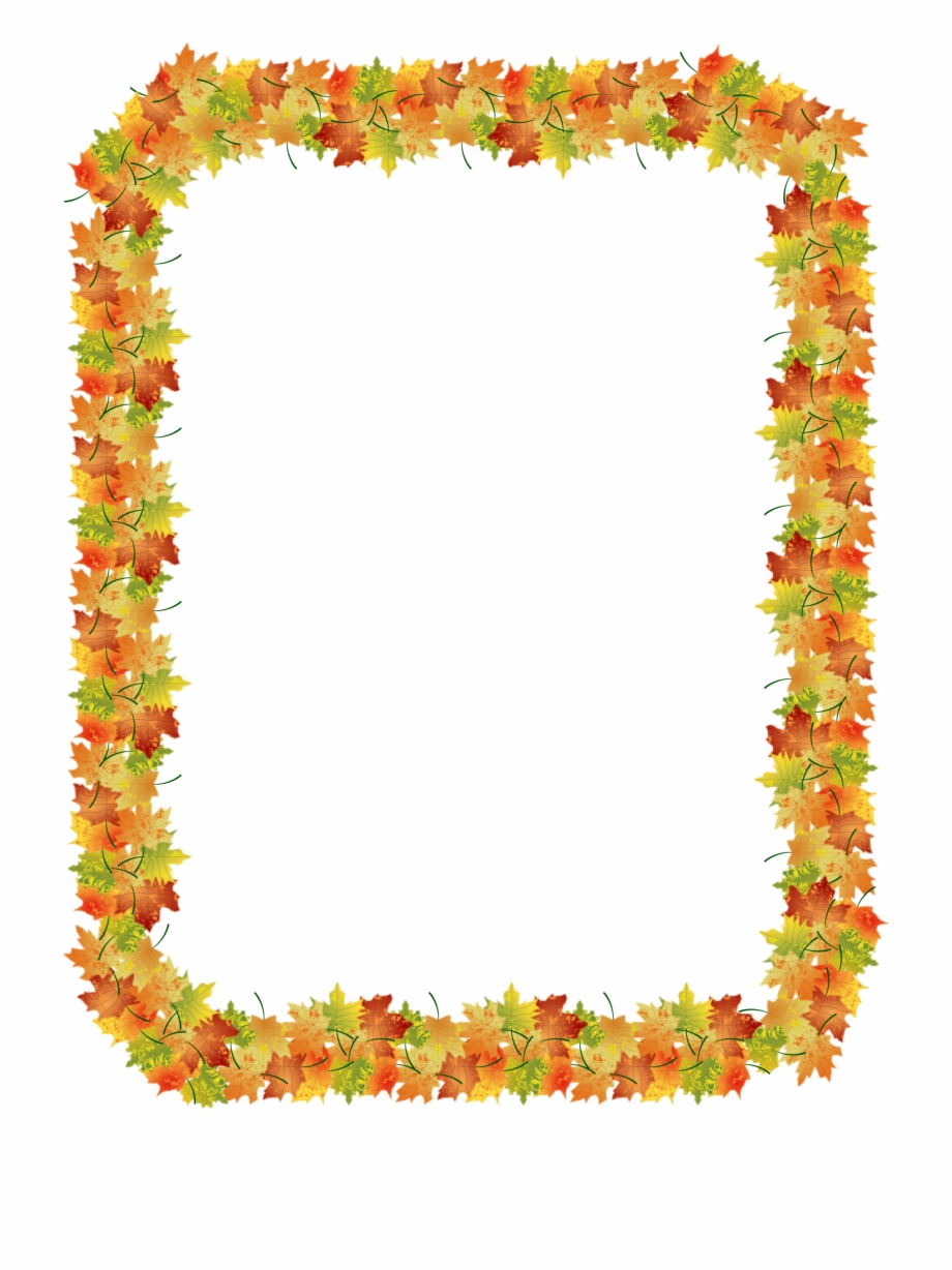 picture stock Autumn nature clip art. Fall borders clipart free.