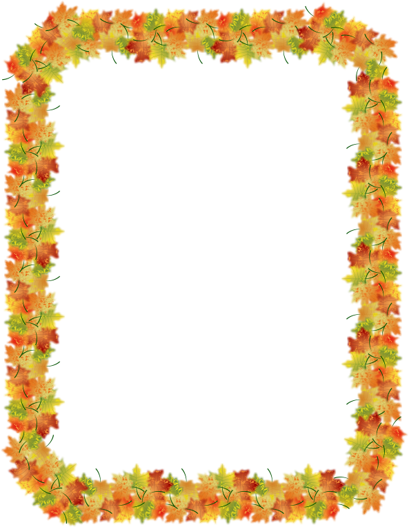 clip art free download Autumn border medium image. Fall clipart borders