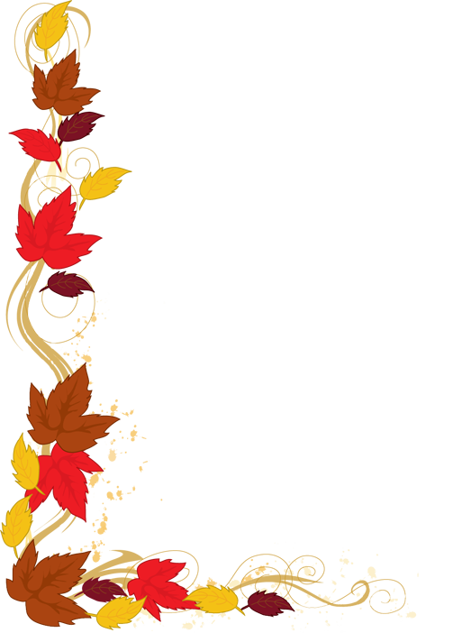 graphic free download Fall Leaves Border Clipart