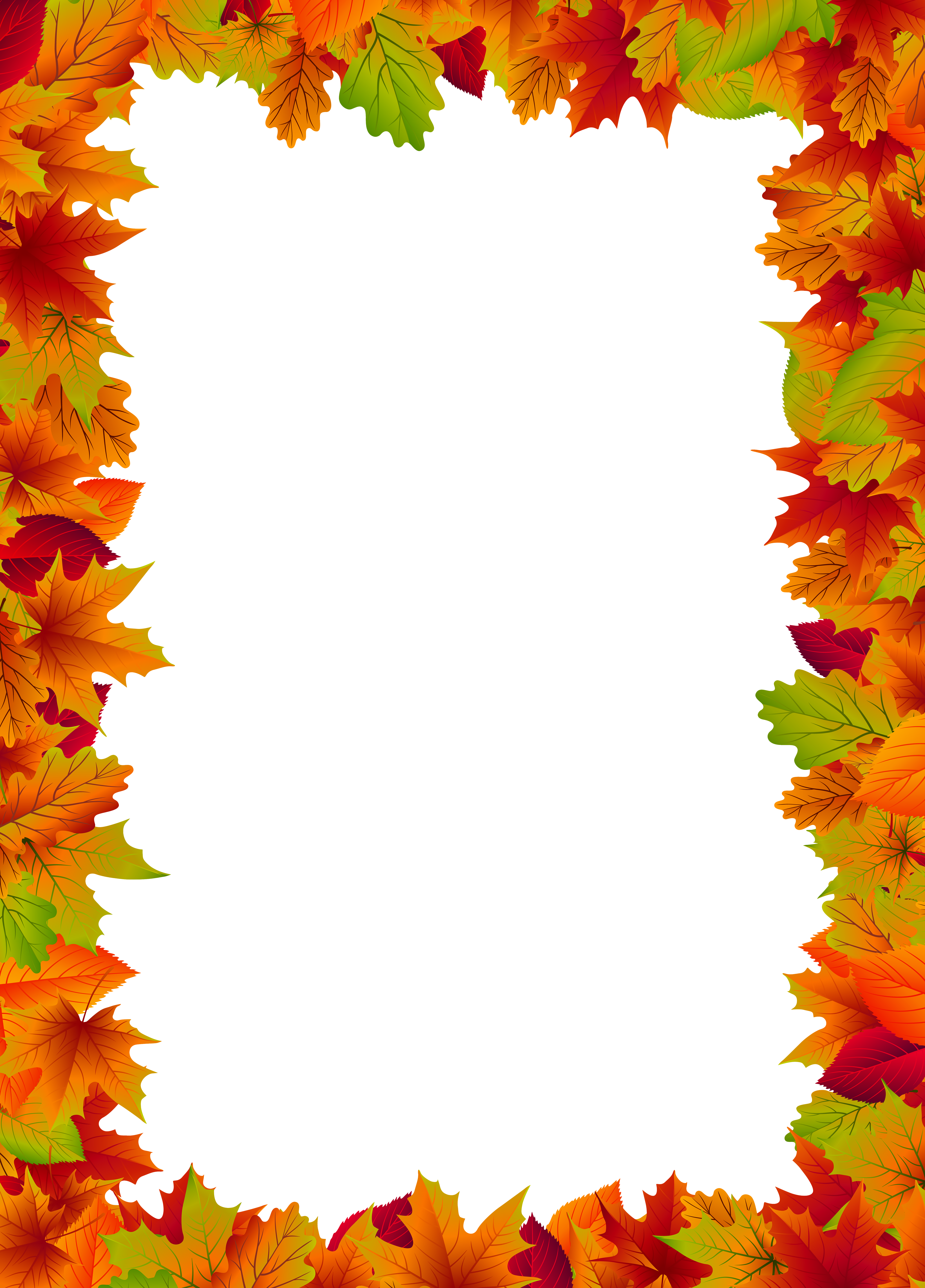 clipart free stock Border frame png clip. Fall borders clipart.