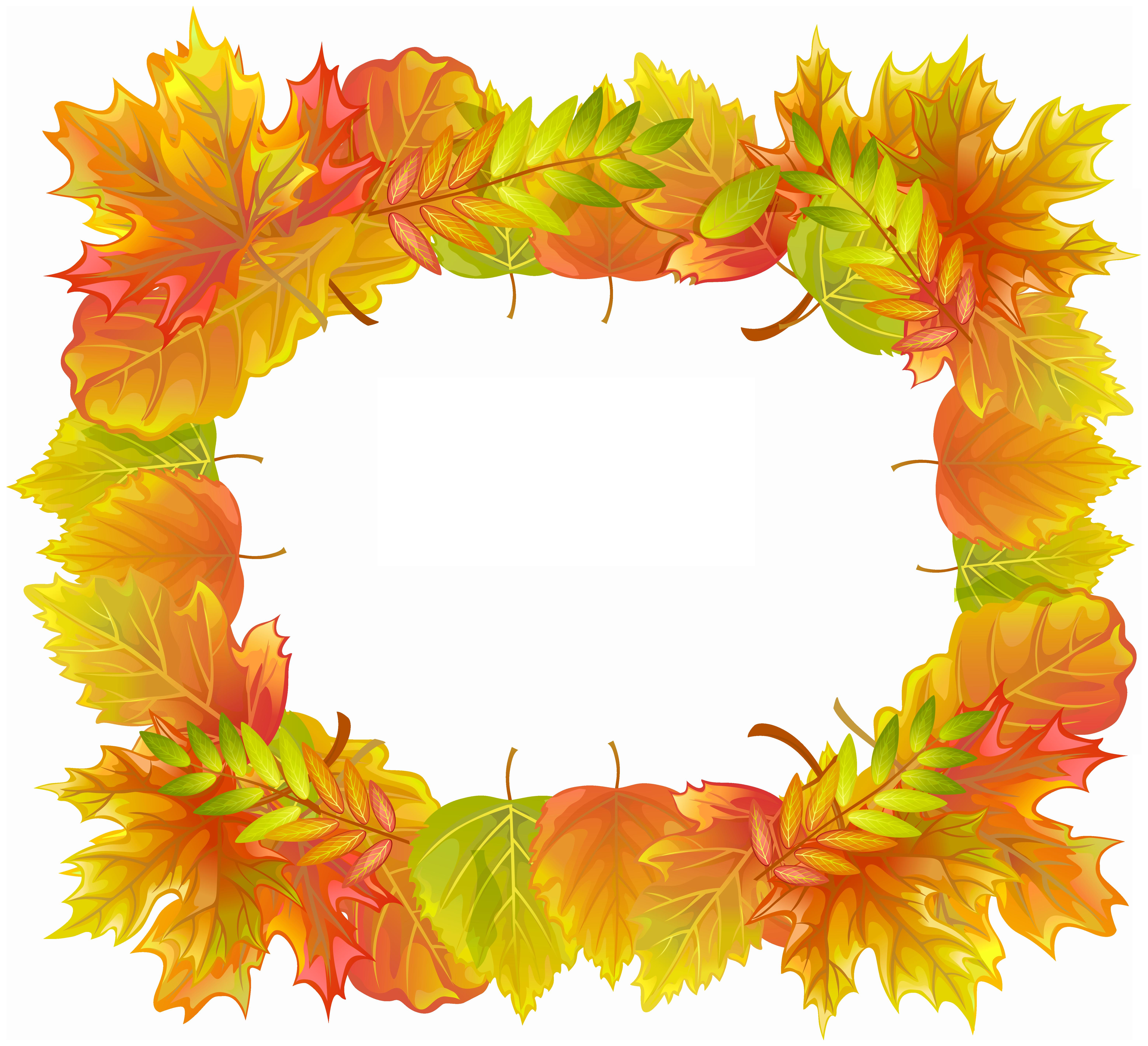 jpg transparent download Fall clipart borders. Autumn leafs border frame