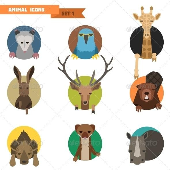 png black and white Vector avatar animal. Avatars illustration characters icon