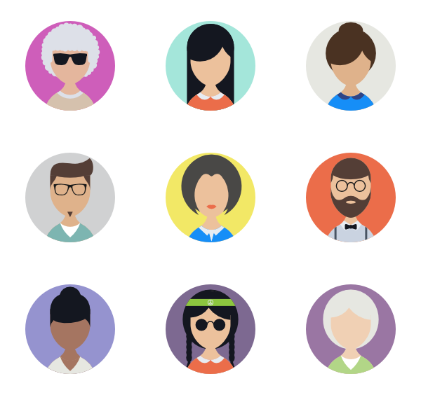 royalty free  business icon packs. Vector avatar people