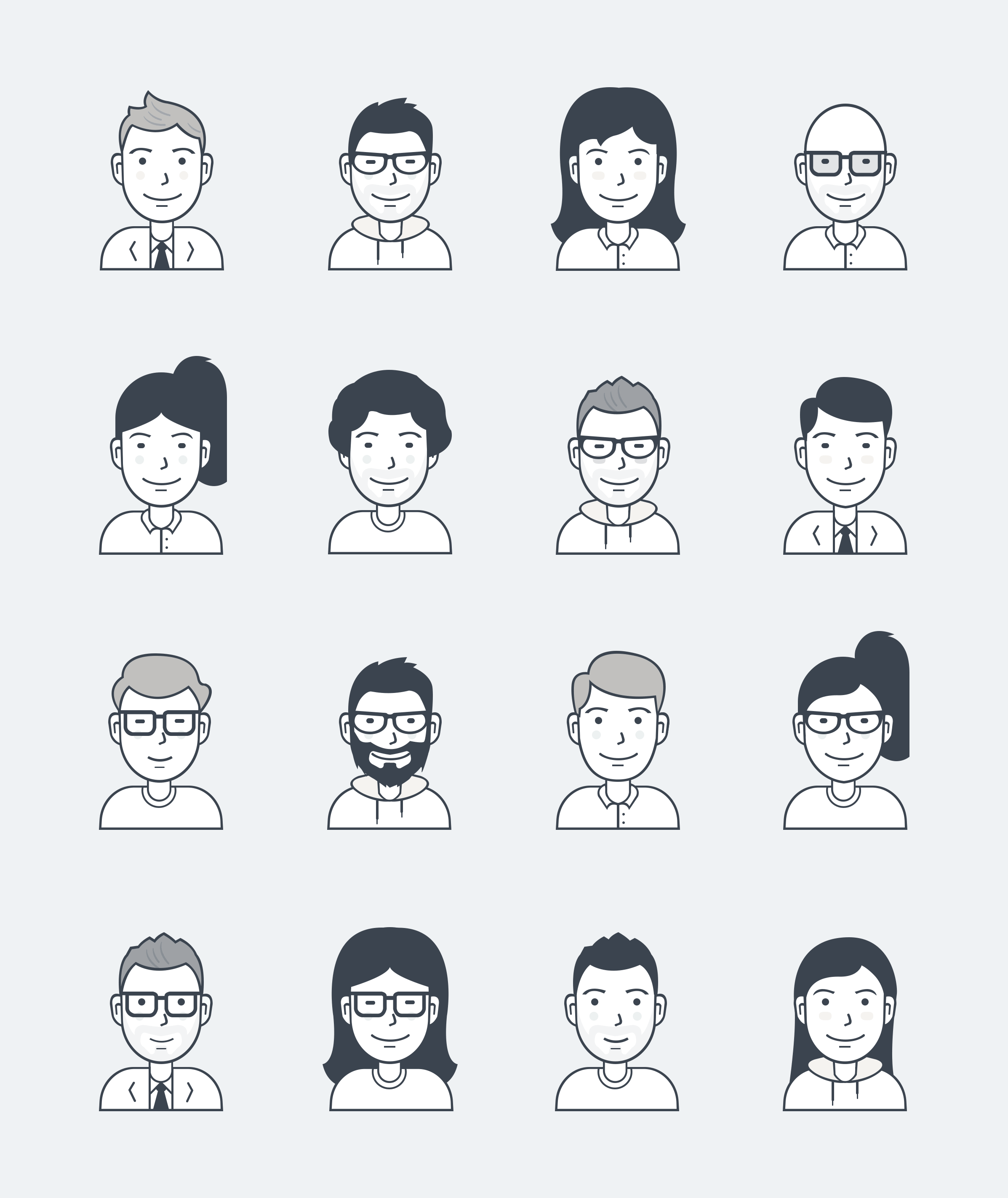 graphic library library Vector avatar simple. User icons by users