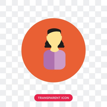 vector transparent stock Avatar vector icon isolated on transparent background