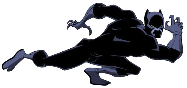 clipart transparent library Marvel black . Free panther clipart