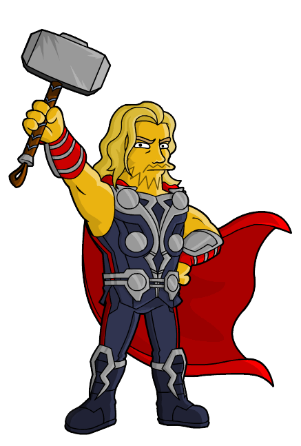 picture stock From springfield simpsons avengers. Thor clipart thor logo.