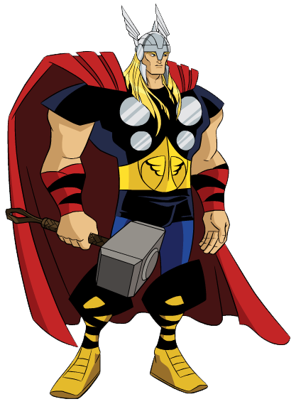 picture library library Thor clipart classic. Avengers earth mightiest heroes