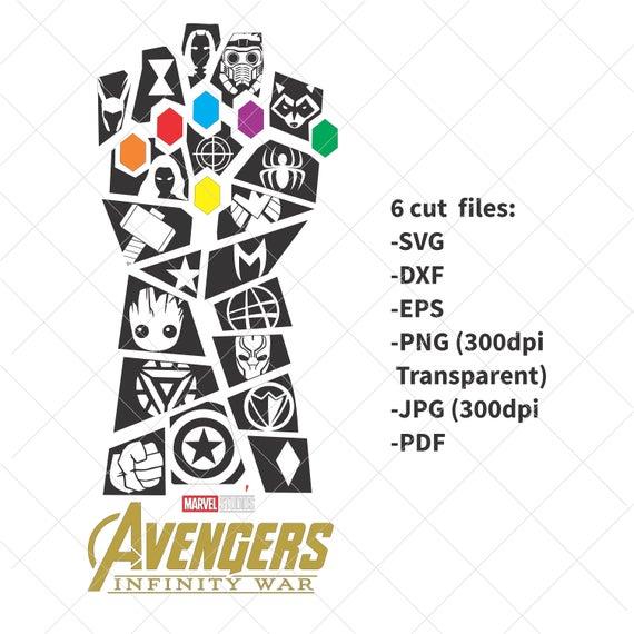 jpg transparent stock Infinity war thanos dxf. Avengers svg